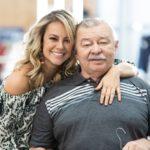Paolla Oliveira with father Jose Everardo Oliveira