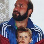 Robert Lewandowski with father Krzysztof Lewandowski in childhood