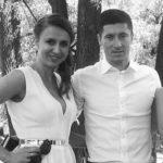 Robert Lewandowski with sister Milena Lewandowski