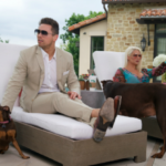 The miz and his pet dogs