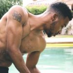 Algee Smith hand and chest tattoo