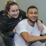 Ben Simmons with mother Julie Simmons