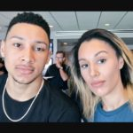 Ben Simmons with sister Olivia Simmons
