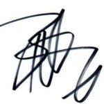 Britt Robertson signature