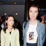 David Byrne with former wife Adelle Lutz
