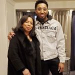 Donovan Mitchell with mother Nicole Mitchell