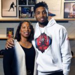 Donovan Mitchell with mother Nicole Mitchell image
