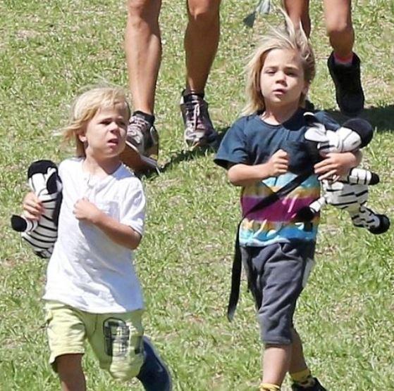 Elsa Pataky twin sons Tristan Hemsworth and Sasha Hemsworth   Celebrities  InfoSeeMedia