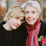 Greta Gerwig with mother Christine Gerwig
