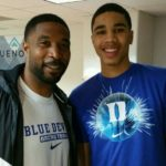 Jayson Tatum with father Justin Tatum
