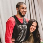 Jayson Tatum with mother Brandy Cole