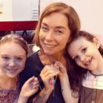 Julianne Nicholson with her daughters