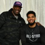 Karl-Anthony Towns with father Karl-Anthony Towns Sr