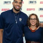 Karl-Anthony Towns with sister Lachelle Towns