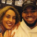 Karl-Anthony Towns with sister Lachelle Towns image