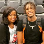 Myles Turner with mother Mary Turner