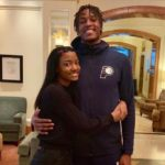 Myles Turner with sister My'a Turner