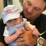 Patrick Reed with son Barrett Benjamin Reed