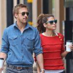 Ryan Gosling with partner Eva Mendes