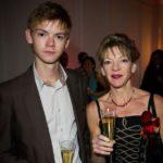 Thomas Brodie-Sangster with mother Tasha Bertram