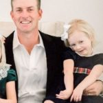 Webb Simpson with daughter Mercy Simpson