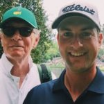 Webb Simpson with his father Sam Simpson