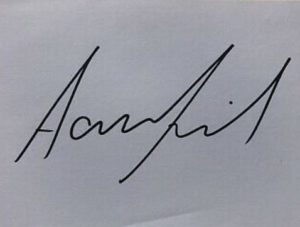 Aaron Finch signature