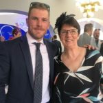 Aaron Finch with mother Sue Finch image