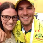 Aaron Finch with sister Jess Finch