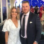 Aaron Finch with wife Amy Griffiths Finch image