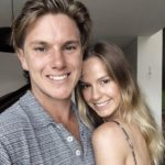 Adam Zampa with girlfriend Hattie Palmer