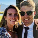 Alex Carey with wife Eloise Carey