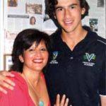Ashton Agar with mother Sonia Hewawissa