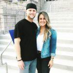 Austin Meadows with his wife Alexis Meadows