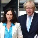 Boris Johnson with former wife Marina Wheeler