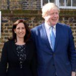 Boris Johnson with former wife Marina Wheeler image