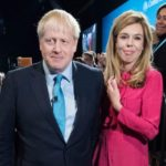 Boris Johnson with girlfriend and fiance Carrie Symonds