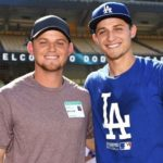 Corey Seager with brother Justin Seager