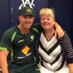 David Warner with mother Lorraine Warner