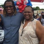 Dont'a Hightower with mother L'Tanya Hightower