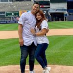 Gleyber Torres with his wife Elizabeth Torres image