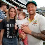James Pattinson with wife and daughter Lyla Pattinson