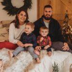John Simon with wife and kids