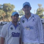 Josh Hazlewood with brother Aaron Hazlewood