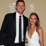 Josh Hazlewood with girlfriend Cherina Christian