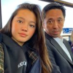 Lily Chee with father Max Chee