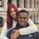 Luis Severino with wife Rosmaly Severino