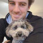 Pat Cummins with his pet dog