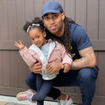 Stephon Gilmore with daughter Gisele Sienna
