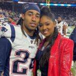 Stephon Gilmore with wife Gabrielle Glenn Gilmore